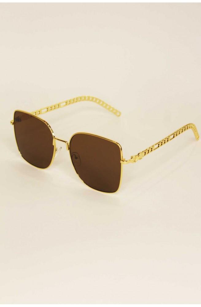 γυναικεία γυαλιά ηλίου τετράγωνα καφέ χρυσό