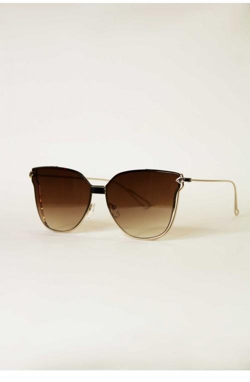 γυναικεία γυαλιά ηλίου καφέ χρυσό