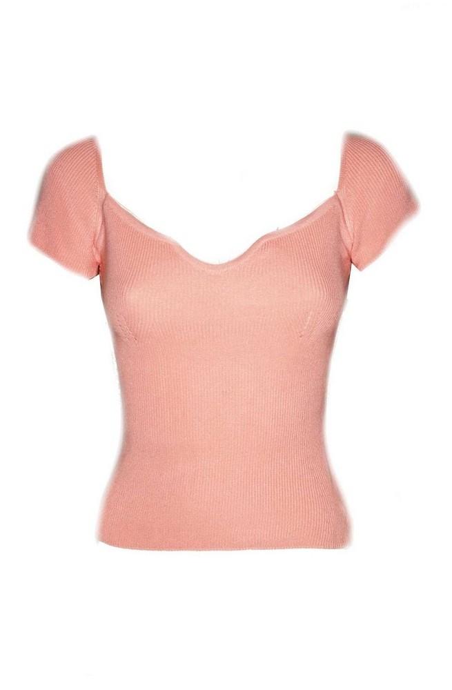 γυναικείο κοντομάνικο μπλουζάκι ριπ
