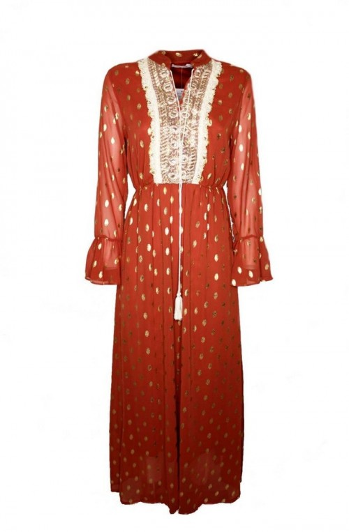 φόρεμα καφτάνι μακρύ