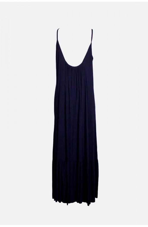 γυναικείο μακρύ φόρεμα ράντα με βολάν