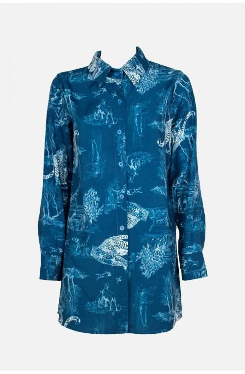 γυναικείο πουκάμισο με print