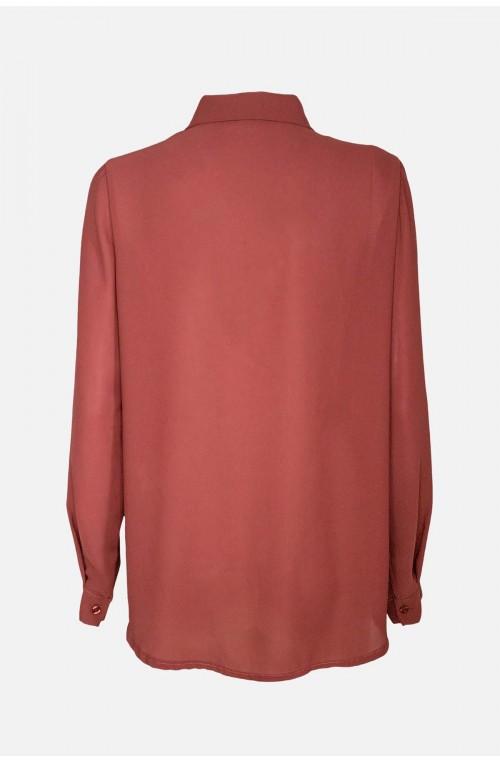 γυναικείο πουκάμισο μουσελίνα με τσέπες