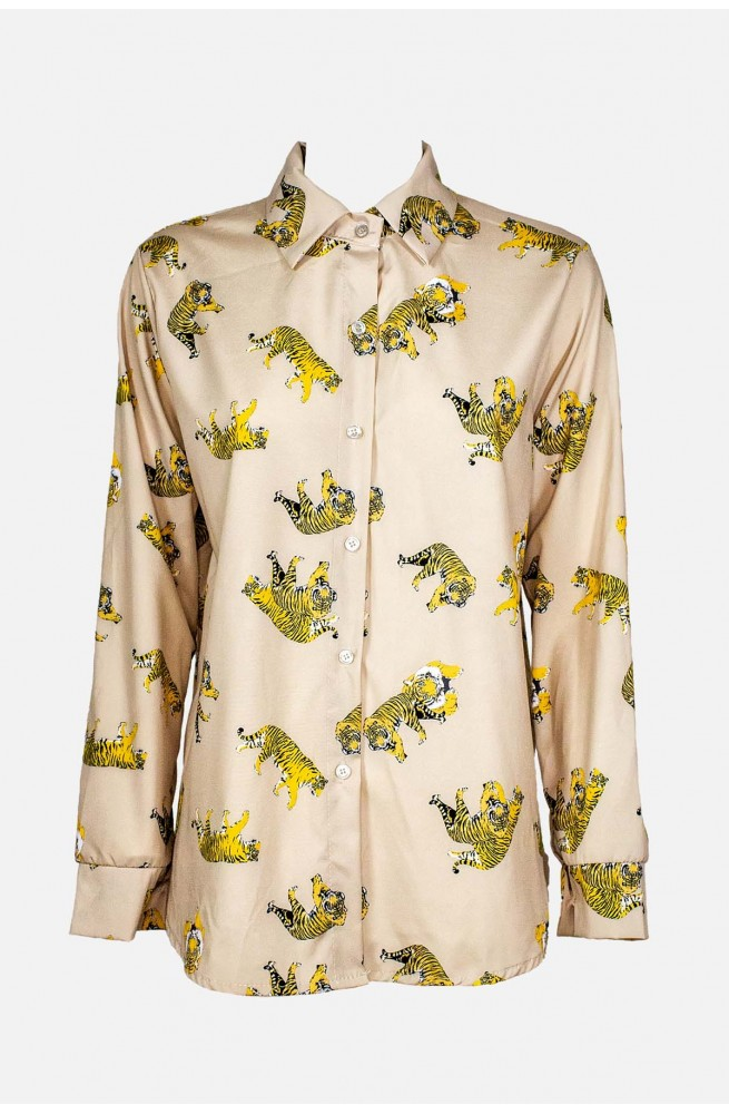γυναικείο πουκάμισο με τίγρις