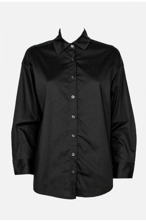 γυναικείο πουκάμισο βαμβακερό σε oversize γραμμή