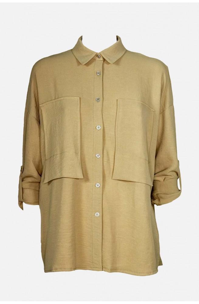 γυναικείο πουκάμισο με μεγάλες τσέπες