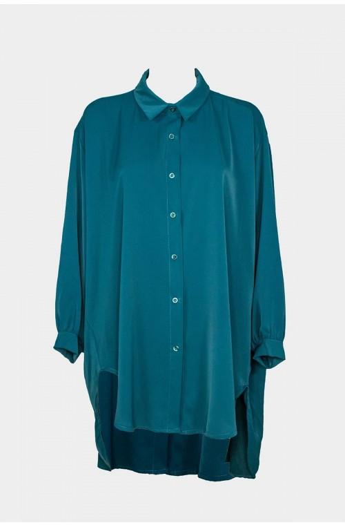 γυναικείο πουκάμισο oversize ασύμμετρο