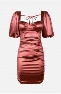 γυναικείο σατέν στενό μίνι φόρεμα (βάπτιση ή γάμο)