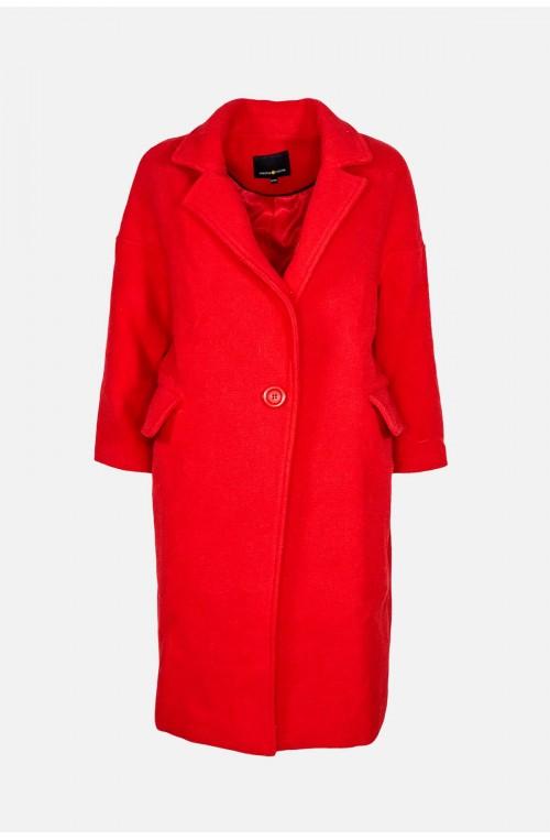 παλτό κόκκινο μάλλινο γυναικείο