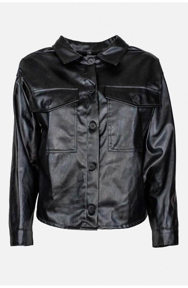 γυναικείο πουκάμισο jacket από οικολογικό δέρμα