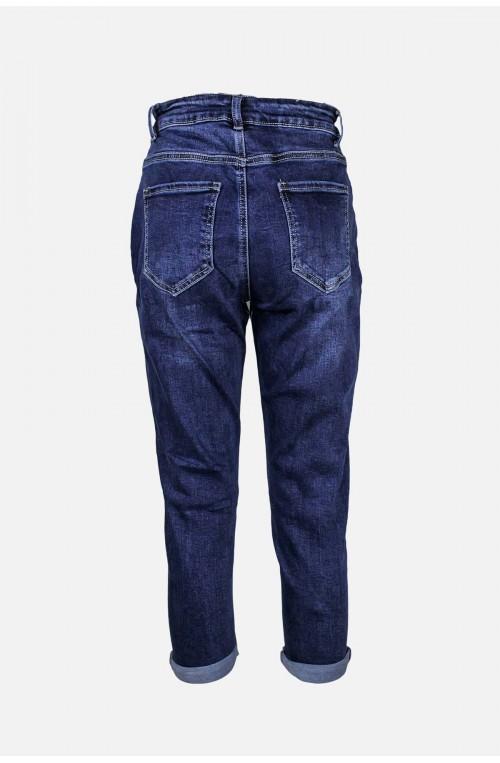 γυναικείο μπλε τζιν παντελόνι plush size