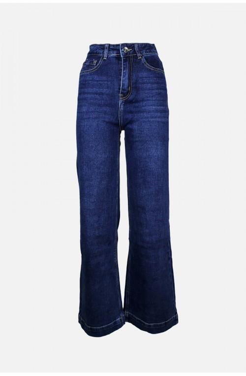 γυναικείο παντελόνι ψηλόμεσο τζιν καμπάνα