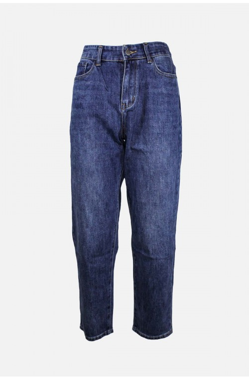 γυναικείο τζιν παντελόνι σε slouchy γραμμή με λάστιχο