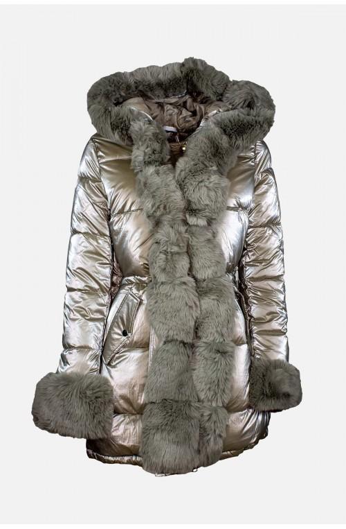 γυναικείο μπουφάν με γούνα